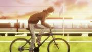 Arata on a bike