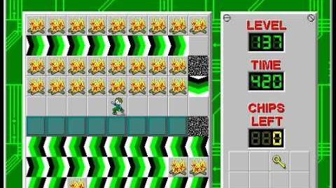 Chip's Challenge 1 level 137 solution - 392 seconds