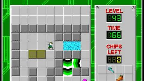 Chip's Challenge 1 level 43 solution - 126 seconds