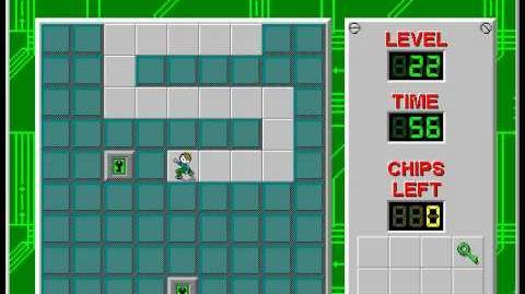 CCLP2 level 22 solution - 27 seconds