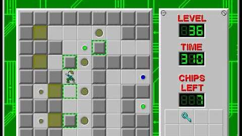 Chip's Challenge 1 level 36 solution - 232 seconds