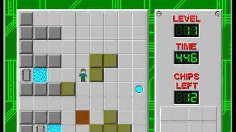 CCLP2 level 11 solution - 411 seconds
