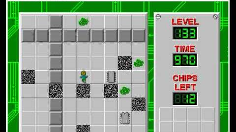 Chip's Challenge 1 level 133 solution - 947 seconds