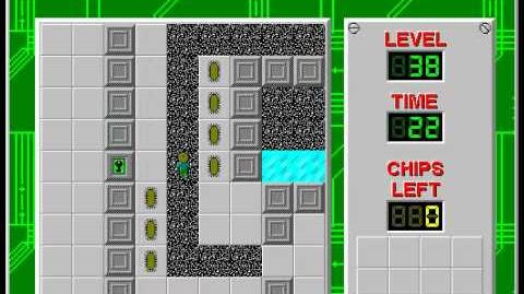 CCLP2 level 38 solution - 11 seconds