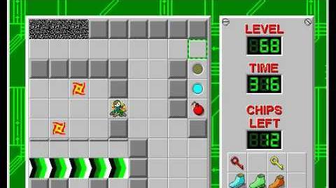 CCLP2 level 68 solution - 276 seconds