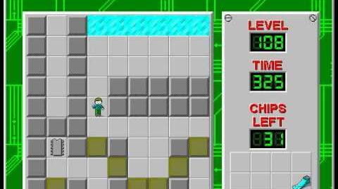 Chip's Challenge 1 level 108 solution - 278 seconds