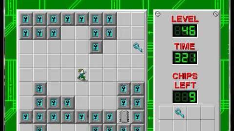 CCLP1 level 46 solution - 280 seconds