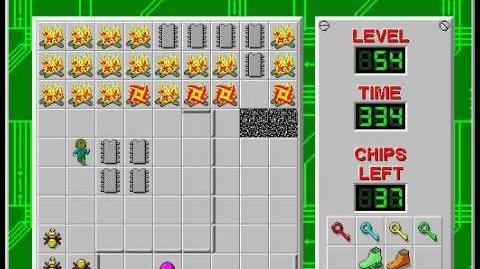 CCLP2 level 54 solution - 302 seconds