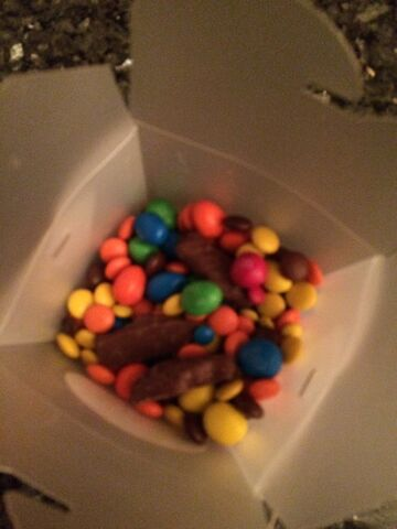 File:M and m peanut m and m resses pieces chocolate covered gummy fish.jpeg