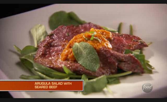 File:Massimo's Arugula Salad with Beef and Sage Pumpkin Sauce.png