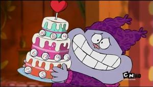 Thrice Cream Bingo Cake