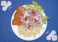 Ceviche dish