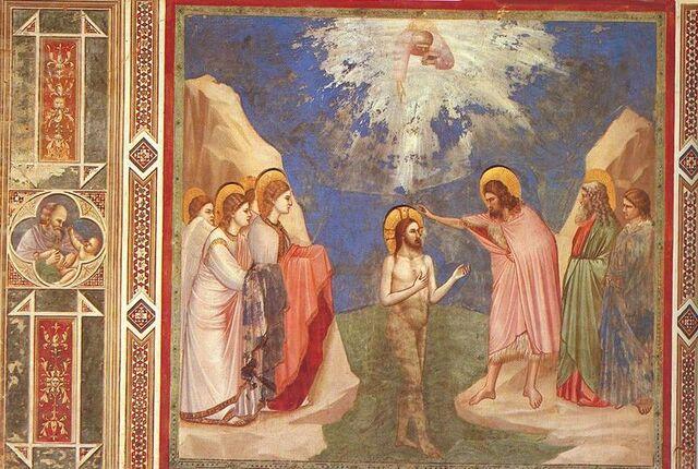 File:Giotto - Scrovegni - -23- - Baptism of Christ.jpg