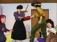 Ryoga and Kuno fight