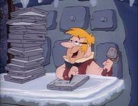 Barney as Bob Cratchit
