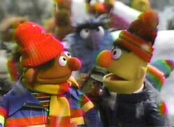 Ernie and Bert sing Deck the Halls
