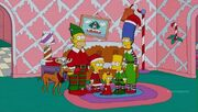 Simpsons Christmas couch gag