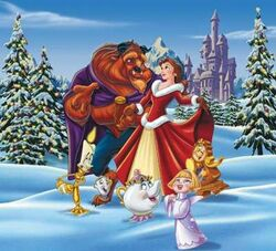 Belle and beast celebrate christmas 6485