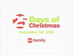 25 Days of Christmas logo from 2003