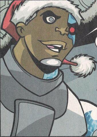 File:Cyborg wearing a Santa hat.jpg