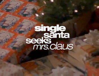 Single santa seeks mrs. claus wiki