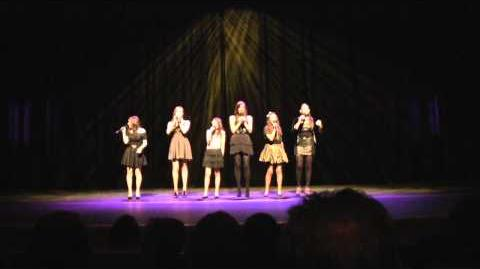 """Don't Stop Believing"", GLEE version, cover by Cimorelli live at the WIN Awards"