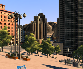 Posh urban plaza