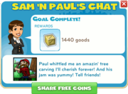 Sam 'n Paul's Chat fin