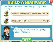 Build a new park goals