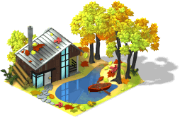 Fall House With Pond-SW