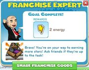 Franchise expert completed
