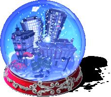 City Snow Globe-SW