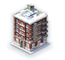 Winter Apartment Building
