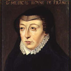 A painting of Catherine de Medici by François Clouet (which appears to be part of the basis for her in-game model)