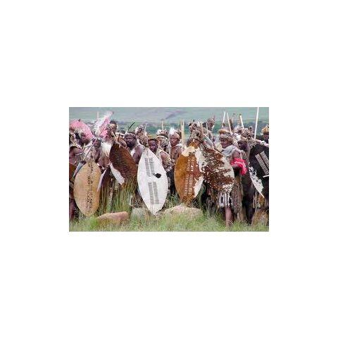 Real-life Zulu Impi reenactors
