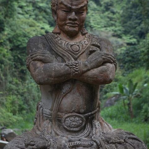 Statue of Gajah Mada at Madakaripura Waterfall
