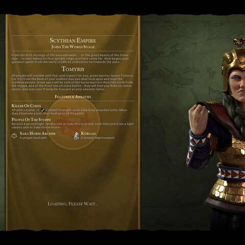 Tomyris on the loading screen