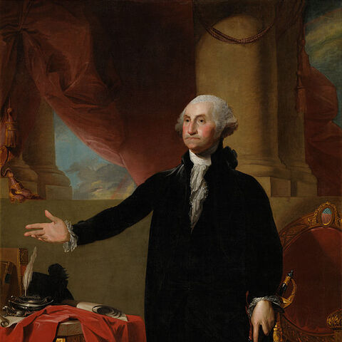 Lansdowne portrait of George Washington, by Gilbert Stuart (1796)