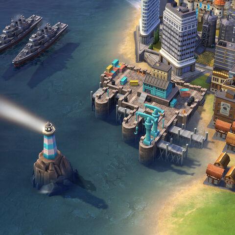 Royal Navy Dockyard in game