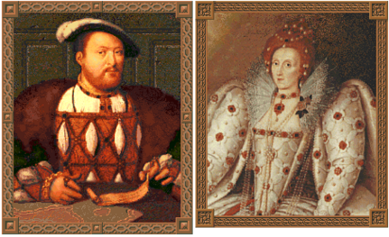 Henry VIII and Elizabeth I (Civ2)