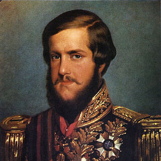 An 1850 portrait of Pedro II by François-René Moreaux (which appears to be the basis for his in-game model)