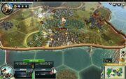 ZeroOne game London going down (Civ5)