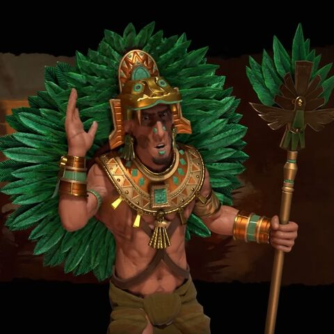 Montezuma as he appears in the Aztecs' First Look video