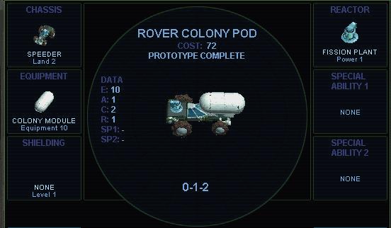 Rover colony pod (SMAC)