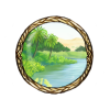 Item river oasis background