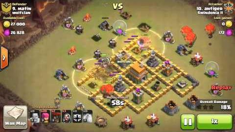 Best TH6 war attack Clash of Clans
