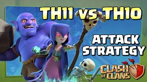 Best TH11 vs TH10 3 Star Dip Attack Strategy - Bowlers and Witches - CoC War 2017 Clash of Clans