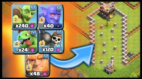 VALLEY OF DEATH - Which Troop Wins? Epic Troll Base Challenge Clash of Clans