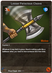 69 Lesser Ferocious Cleave