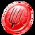 Craft pitchfork token red